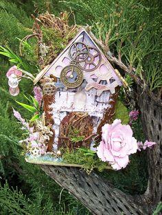 Steam punk fairy house.  I love it.