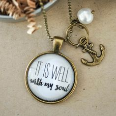 Christian Hymn Necklace | It Is Well With My Soul