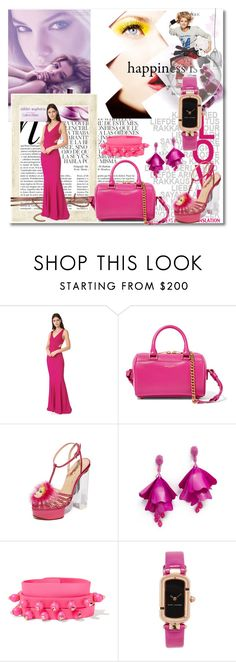 """""""Pink Looks Perfect on You!!"""" by stylediva20 on Polyvore featuring Whiteley, Zac Posen, Yves Saint Laurent, Charlotte Olympia, Oscar de la Renta, Valentino and Marc Jacobs"""