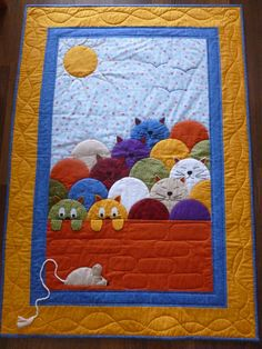Manualidades Halloween, Easy Halloween Crafts, Dog Quilts, Baby Quilts, Clamshell Quilt, Cat Quilt Patterns, Fiber Art Quilts, Japanese Patchwork, Scraps Quilt