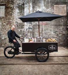 Food Stall Design, Food Cart Design, Food Truck Design, Food Trucks, Food Cart Business, Coffee Food Truck, Mobile Coffee Shop, Mobile Food Cart, Bike Food