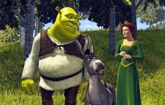Shrek -- where the love story is actually developed and isn't lust at first glance! They learn about one another and, in doing so, learn what is lovable about the other. UNHEARD OF IN AMERICAN FILM! Put that in your Notebook! Cartoon Tv, Cartoon Characters, Dreamworks, Pixar, Princesa Fiona, Spanish Posters, Childhood Movies, Netflix Movies, About Time Movie