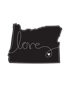 oregon love--maybe i'll make it in felt? with the heart over sisters, of course.