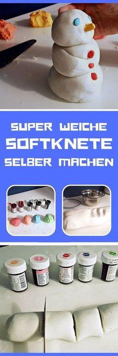 Knete selber machen mit Stärke (ohne Salz) SUPER weich und schnell gemacht