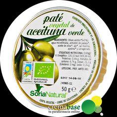 SoriaNatural paté vegetal de aceituna verde 50gr