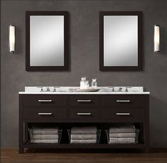 bathroom vanity on pinterest copy cat chic restoration hardware and