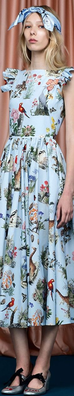 Vivetta Resort 2017 blue dress @roressclothes closet ideas #women fashion outfit #clothing style apparel