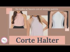 # 36 Corte Halter/🤔 Sabes cuándo se hace con pinza y cuándo no? 😎 Aquí te enseño! - YouTube Sunflower Art, Couture, Basic Tank Top, Athletic Tank Tops, Women, Manga, Fashion, Infant Dresses, Templates