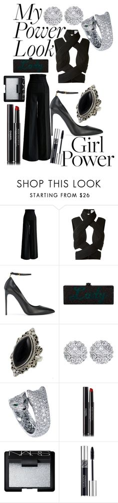 """""""MY POWER LOOK"""" by andreamartin24601 ❤ liked on Polyvore featuring Dion Lee, Tom Ford, NOVICA, Allurez, Chanel, NARS Cosmetics and Christian Dior"""