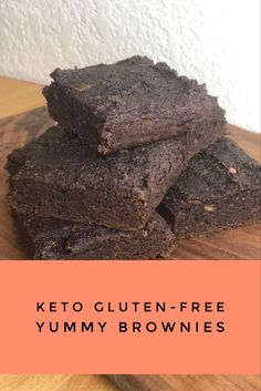Yummy brownie recipe those eating Keto, low- carb, or gluten free. Printable recipe on link