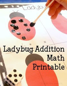 Ladybug Addition Math Printable   Practice addition with this cute ladybug themed printable by adding spots to both sides and then adding the spots together!