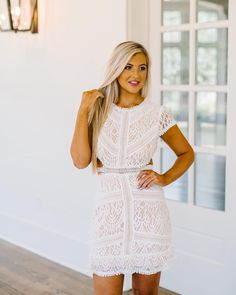 "dfe3823f90c6 These Three Boutique on Instagram  ""Restock! Kelly Lace Dress  70-  restocking   5pm central!! Such a gorgeous dress for brides or any special  event!"