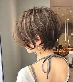 Short Hairstyles For Thick Hair, Haircut For Thick Hair, Short Hair Cuts For Women, Curly Hairstyles, Fashion Hairstyles, Wavy Hair, Hair Updo, Short Thick Haircuts, Asian Bob Haircut