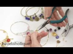 Hope For A Cure Bangle Set - Beading Projects & Tutorials - Beading Resources | Beadaholique