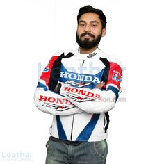 An awesome racing leather jacket designed for those who have Honda RCV213 motorbike for a perfect matching with your motorbike.  Exciting Offer! Special Price  = $360.00 USD Regular Price = $450.00 USD BUY NOW https://www.leathercollection.com/en-we/honda-rcv213-2016-racing-leather-jacket.html