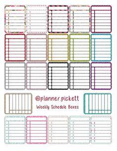FREE @planner.PICKETT: FREE weekly schedule sticker Printable