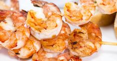 Acadian Spicy Shrimp - DennyMike's'Cue Stuff Inc. Shrimp Avocado, Spicy Shrimp, Mets, Fish And Seafood, Bbq, Toast, Appetizers, Recipes, Crostini Recipe