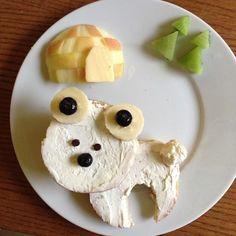 polar bear and igloo food art