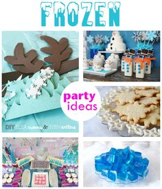 Frozen Party Ideas- Looove these.
