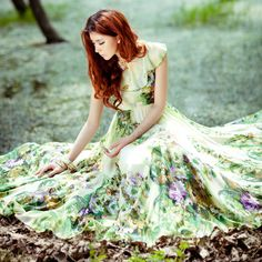 Fashion Charming Summer Printing Maxi Dress 10954397 - Maxi Dresses - Dresswe.Com