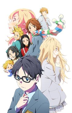 "Shigatsu Wa Kimi No Uso- ""Your Lie In April"" Anime. One of the most heart shattering anime's out there! Manga Anime, Fanarts Anime, Sad Anime, I Love Anime, Me Me Me Anime, Kawaii Anime, Anime Characters, Anime Art, Anime Films"