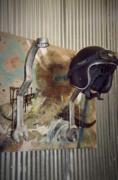 Wrench Motorcycle Helmet Rack 2