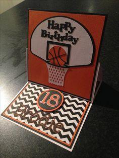 Basketball 18th birthday card