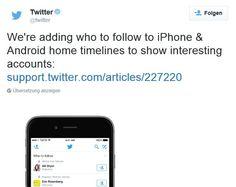 """Twitter: iOS-App erhält Folgen-Update - https://apfeleimer.de/2015/09/twitter-ios-app-erhaelt-folgen-update - Die Twitter-Macher haben ihrem Nachrichtendienst ein kleines Update spendiert. Um genau zu sein, veränderte Twitter die Who-to-follow-Funktion. Interessante Personen tauchen nämlich ab sofort auch direkt in Eurer Timeline auf und sollen Euch so zum Folge animieren. Die neue """"Who to fol..."""