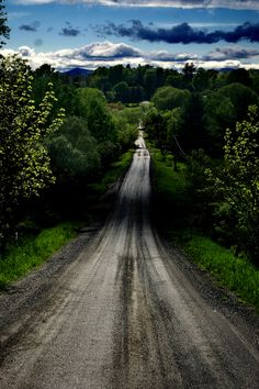 Dirt road through back-country, Vermont, USA