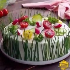 Sandwich cake- Sandwich-Torte Perfect for guests and - Appetizer Recipes, Dinner Recipes, Appetizers, Buffet Recipes, Sandwich Torte, Sandwich Buffet, Food Decoration, Food Platters, Party Snacks