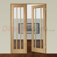 Image of Easi-Frame Oak Door Set, GOWOR-COEOP32L, 2005mm Height, 1432mm Wide.