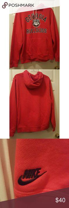 GEORGIA BULLDOGS sweatshirt hoodie pullover Nice no stains Nike Shirts Sweatshirts & Hoodies