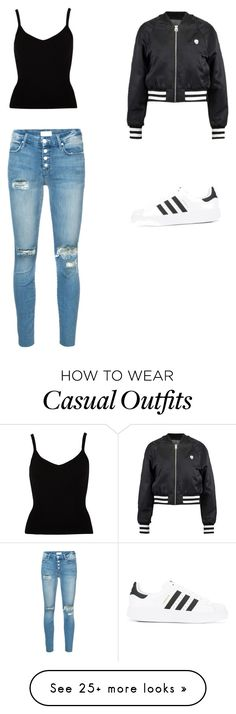 """Casual 2"" by akasperski on Polyvore featuring Cheap Monday, Mother and adidas"