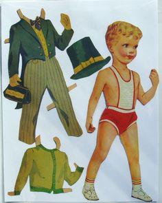 Paper Dolls Vintage Original No Repos Boy and Girl Pre Cut | eBay
