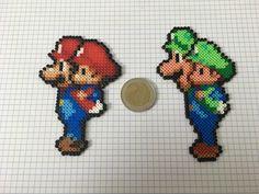 Mario & luigi perler hama beads
