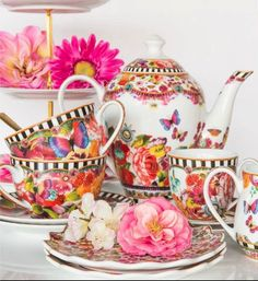 Lenox Dinnerware ~ Melli Mello Isabelle Floral & Eliza Stripe Porcelain Collections | Available Exclusively at Macy's