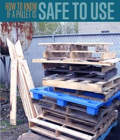 When you build pallet furniture it's hard to tell whether a pallet is safe. See our tips on safe wooden pallets to be cautious with wood pallet projects.