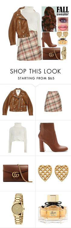 """Fall is back"" by chiaral95 ❤ liked on Polyvore featuring Acne Studios, Carven, C/MEO COLLECTIVE, Sephora Collection, Gucci and fallsweaters"