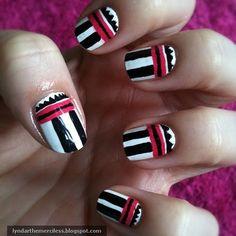 Lyndar the Merciless: Talon-tastic Thursday: More tribal nail art