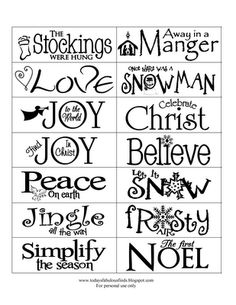 Christmas Words...check out the cute and easy craft that comes with it. Cheap too!