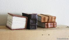 Leather books.