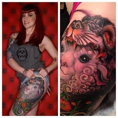 A sheep in wolf's clothing. Tattoo by Jeff gogue art