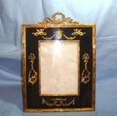 Superb Gilt Bronze Antique French Empire Style Picture Frame |