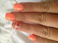 Orange crush gel nails :)