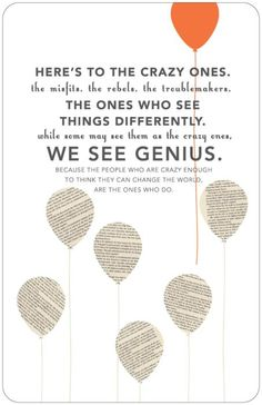 we see genius.