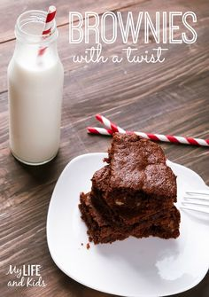 Super simple brownies recipe - with a twist! Add these four ingredients to any box of brownie mix, and you will be BLOWN away at how delicious your brownies are! YUM!