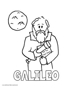 world history coloring pages printables galileo galilei