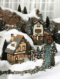 Miniature Christmas Village | We Wish You a Merry Christmas & A Happy ...