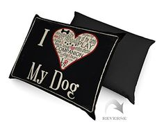 Laural Home I Love My Dog Waterproof Dog Bed 18Inch by 28Inch >>> You can get more details by clicking on the image.