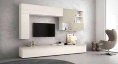 Parete attrezzata soggiorno porta tv in legno Athos 30 | PARETI ...